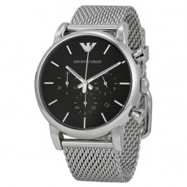Emporio Armani Chronograph Black Dial Steel Men's Watch