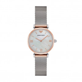 Emporio Armani Classic stainless steel and rosegold watch