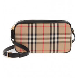 Burberry Small Vintage Check Camera bag - Beige