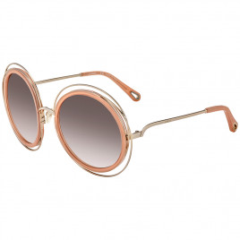Chloé CE120SD Carlina Gold Transparent Peach Sunglasses For Women