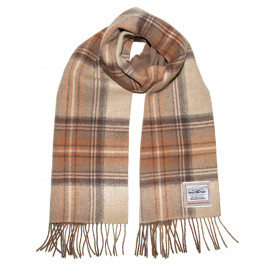 Heritage Traditions - 100% Wool Double Face Tartan Brushed Wool Scarf - Natural Stewart