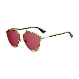 Dior - So Real Rise Ladies Sunglasses Yellow Gold Red