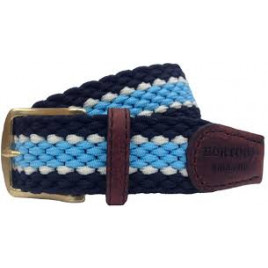 Hortons Dorchester Belt Sky Blue & Navy