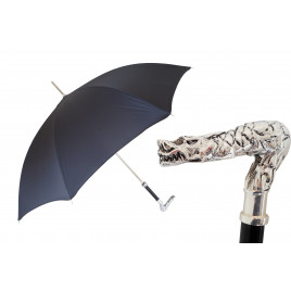 Pasotti Luxury Black Umbrella with Dragon Handle