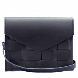Eduards - Näver Mini Shoulder Bag in Black Leather