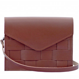 Eduards - Näver Mini Shoulder Bag in Brick Leather