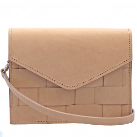 Eduards - Näver Mini Shoulder Bag in Nature Leather