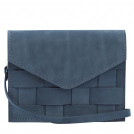 Eduards - Näver Mini Shoulder Bag in Oily Navy Leather