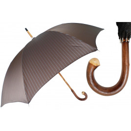 PASOTTI Classic Striped One-Piece Chestnut Umbrella