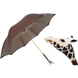 Pasotti Women Luxe Giraffe Umbrella, Double Cloth