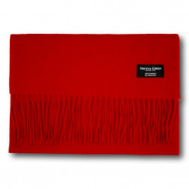 Gretna Green Wide Cashmere Scarf in Red