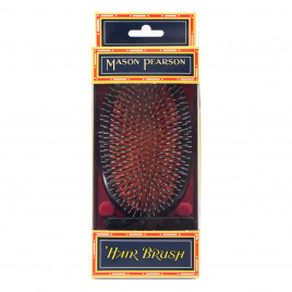 Mason Pearson 'Popular' Bristle & Nylon Military Brush with Cleaning Brush HBBN1M