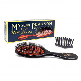 Mason Pearson 'Handy' Pure Bristle and Nylon Hair Brush with Cleaning Brush HBBN3