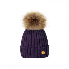 Hortons England Meribel PomPom Hat - Purple
