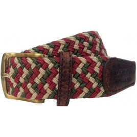 Hortons Olive, Cream & Burgundy Foxton Belt