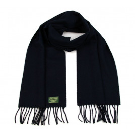 Glencroft 100% Pure Lambswool Plain Scarf - Navy