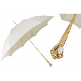 Pasotti Women Luxury Ivory Parasol Umbrella