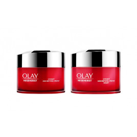 Olay Regenerist - 3 Point Age-Defying Day and Night Cream Bundle (2 x 15ml)
