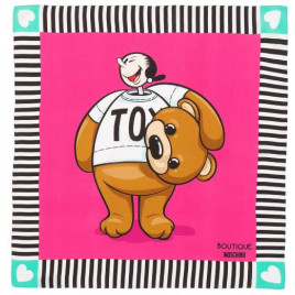 Moschino Boutique Olive Oyl as Toy Bear Scarf - Pink