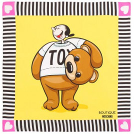 Moschino Boutique Olive Oyl as Toy Bear Scarf - Yellow