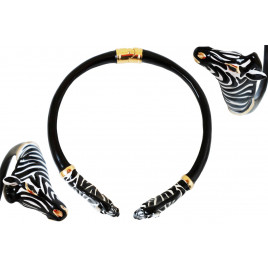 Pasotti Luxury Zebra Necklace - Black/White