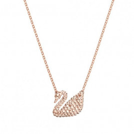 Swarovski Iconic Swan Crystal Pendant in Rose Gold