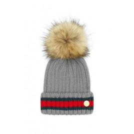 Hortons Kloster Pom Pom Hat Light Grey