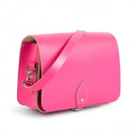 Gweniss Riley Saddle Bag - Bright Pink