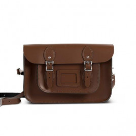 Gweniss Charlotte Satchel - Dark Brown - 11""