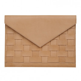 Eduards - Näver Kuvert Laptop Sleeve / Clutch in Nature Leather
