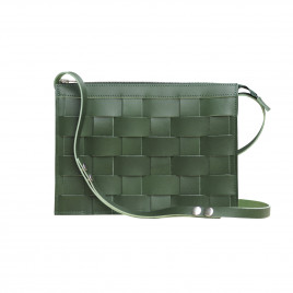 Eduards - Näver Small Leather Shoulder Bag in Green