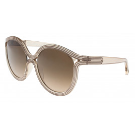 Chloe - CE738S 264 Beige Round Sunglasses for Women