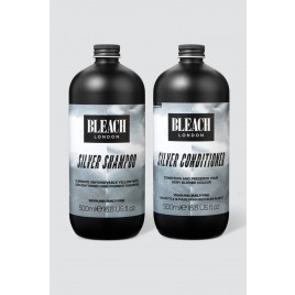 Bleach London Silver Shampoo & Conditioner Duo (500ml)