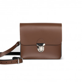 Gweniss Sofia Crossbody Bag - Dark Brown