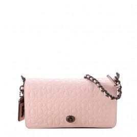 Coach Leather Crossbody Bag - Pink