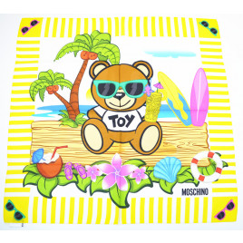 Moschino Toy Bear Island Scarf - Yellow