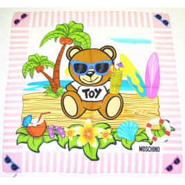 Moschino Toy Bear Island Scarf - Light Pink