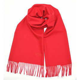Moschino Logo Merino wool Scarf - Red