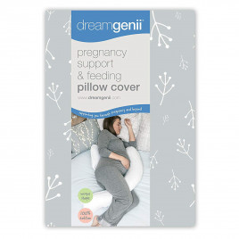 Dream Genii - Floral Grey Cotton Cover