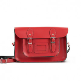 Gweniss Charlotte Satchel - Scarlet Red - 12.5""