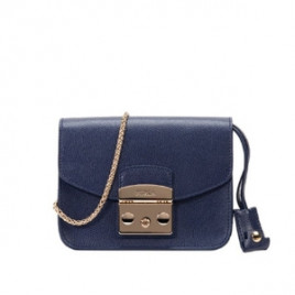 Furla Metropolis Small Shoulder Bag in Navy Blue
