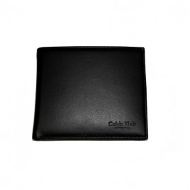Calvin Klein Leather Wallet Black with ID flap