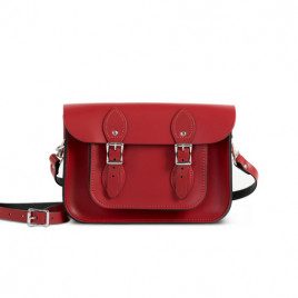 Gweniss Charlotte Satchel - Scarlet Red - 11""