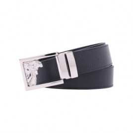 Versace Collection Men's Medusa Logo Belt - Black