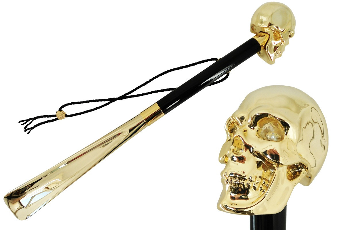 Pasotti Gold Skull Shoehorn