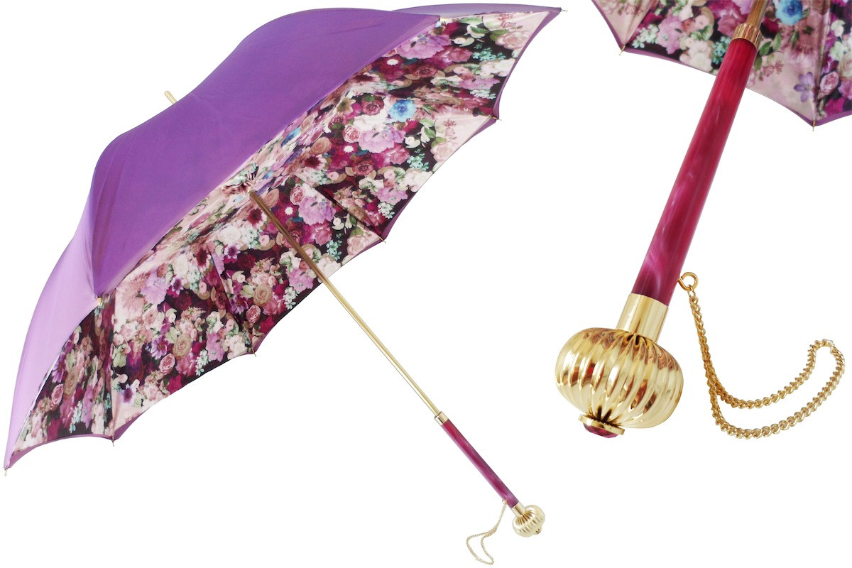 Pasotti Purple Flowers Umbrella