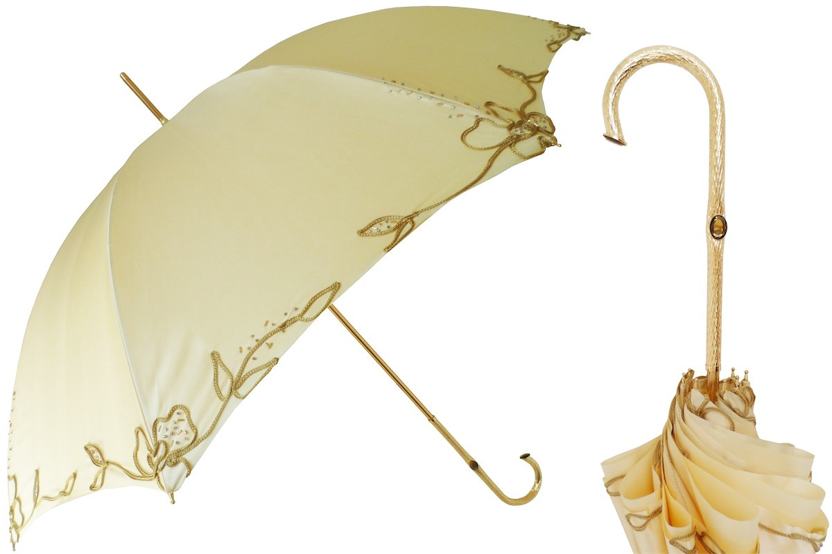 Pasotti Women Ivory Woman's Decorated Umbrella