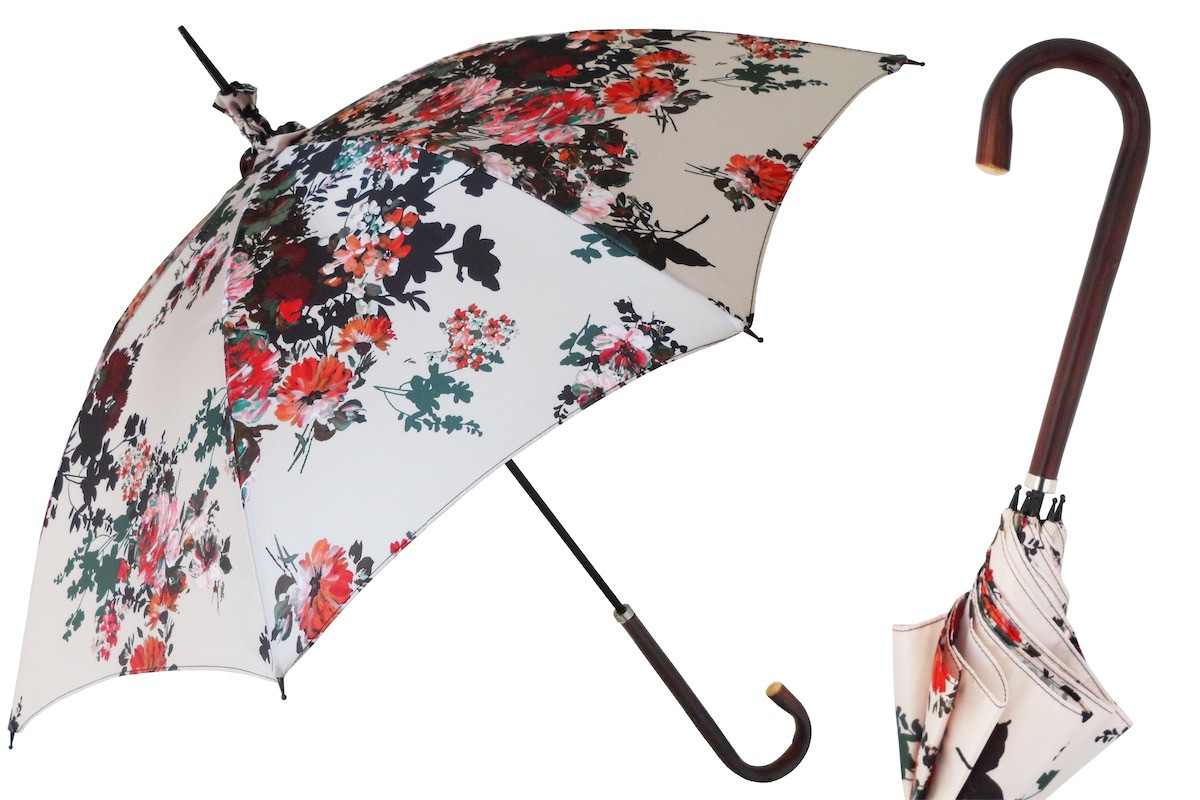 Pasotti Manual Opening Flowers Parasol Rainproof