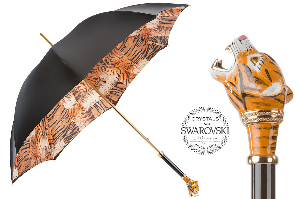 Pasotti Women Siberian Tiger Umbrella, Double Cloth