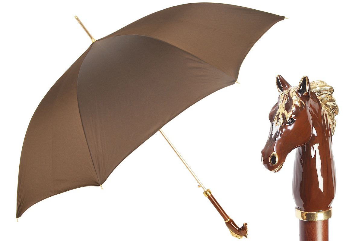 Pasotti Luxury Brown Horse Luxurious Umbrella